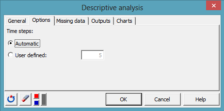 time series dialog box 2